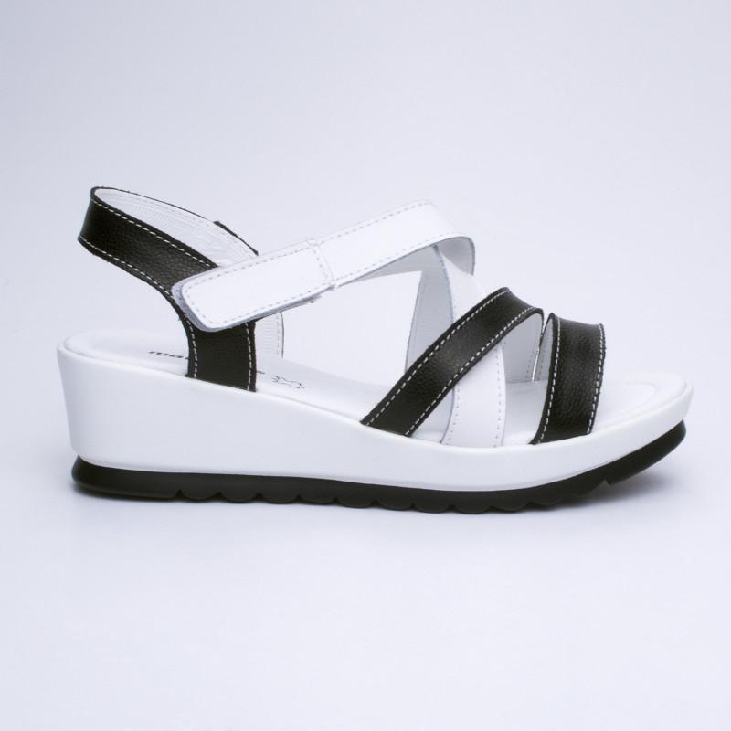 ДАМСКИ САНДАЛИ 159036 BLACK/WHITE
