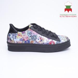 ДАМСКИ МАРАТОНКИ 228013 BLACK FLOWERS