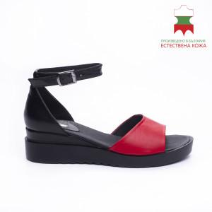 ДАМСКИ САНДАЛИ 227080 BLACK/RED