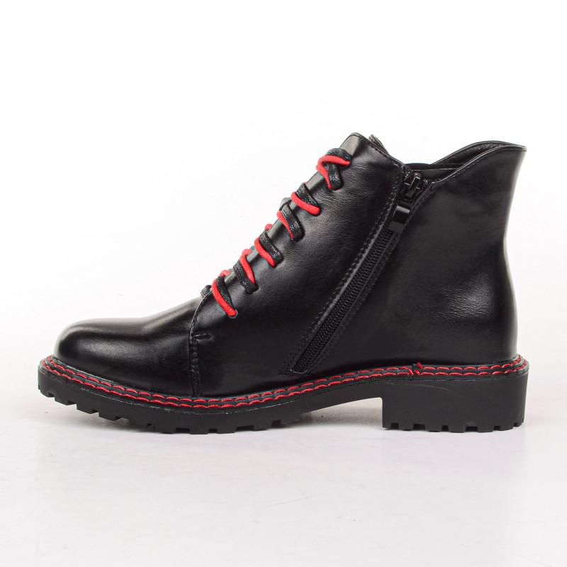 ДАМСКИ БОТИ 525133 BLACK/RED